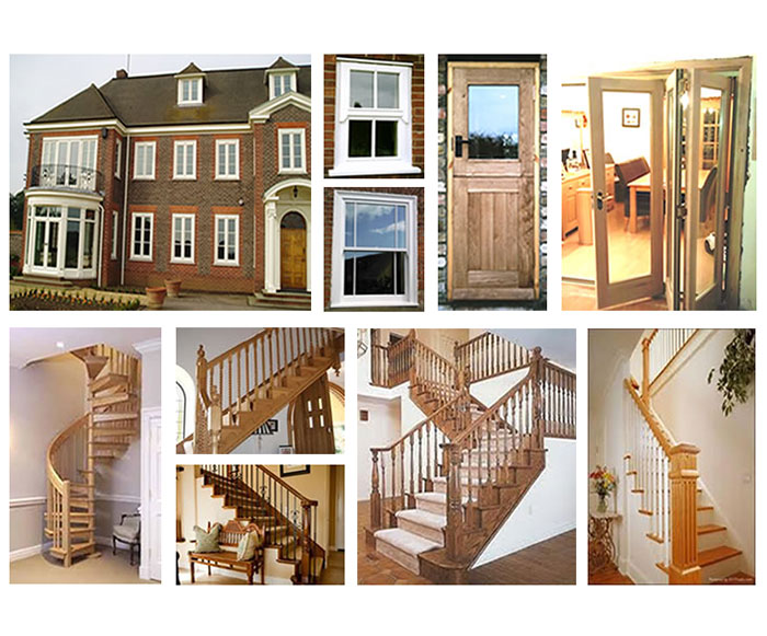 Home joinery on domestic staircase